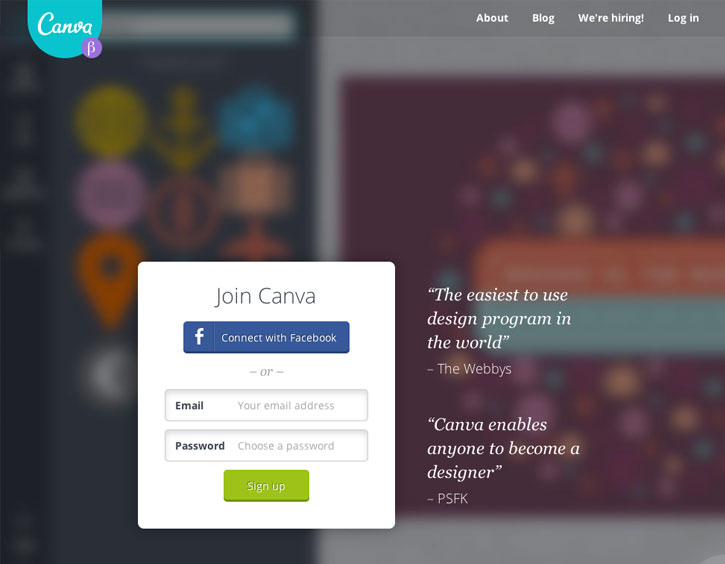 Canva build your Own Website