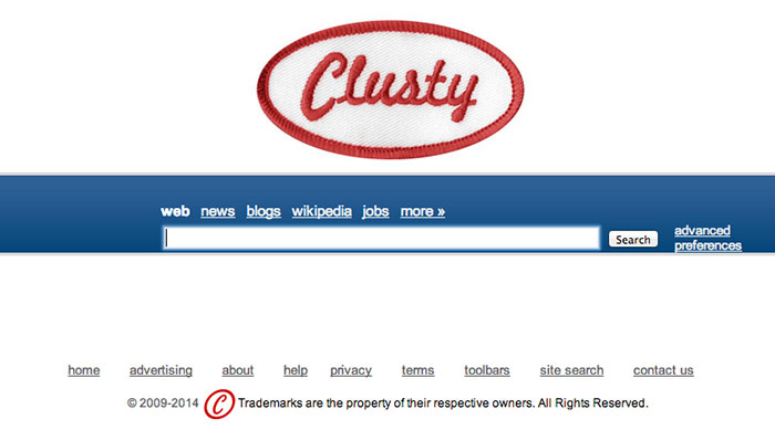 Clusty Website Invisible Web Search