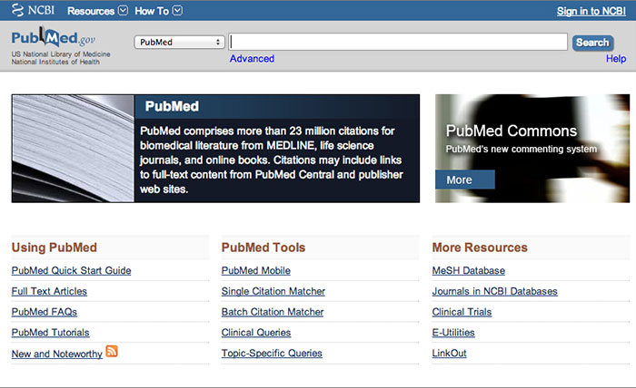 PubMed Website Invisible Web Search