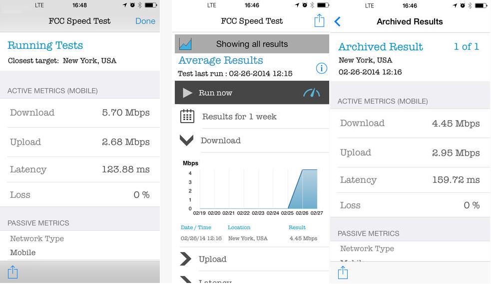 Broadband Speed Test Results fccgov