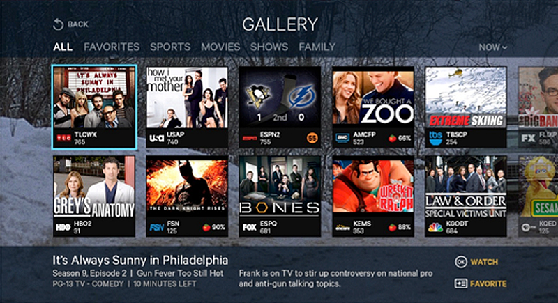 New Tv Technology: SlingTV Interface