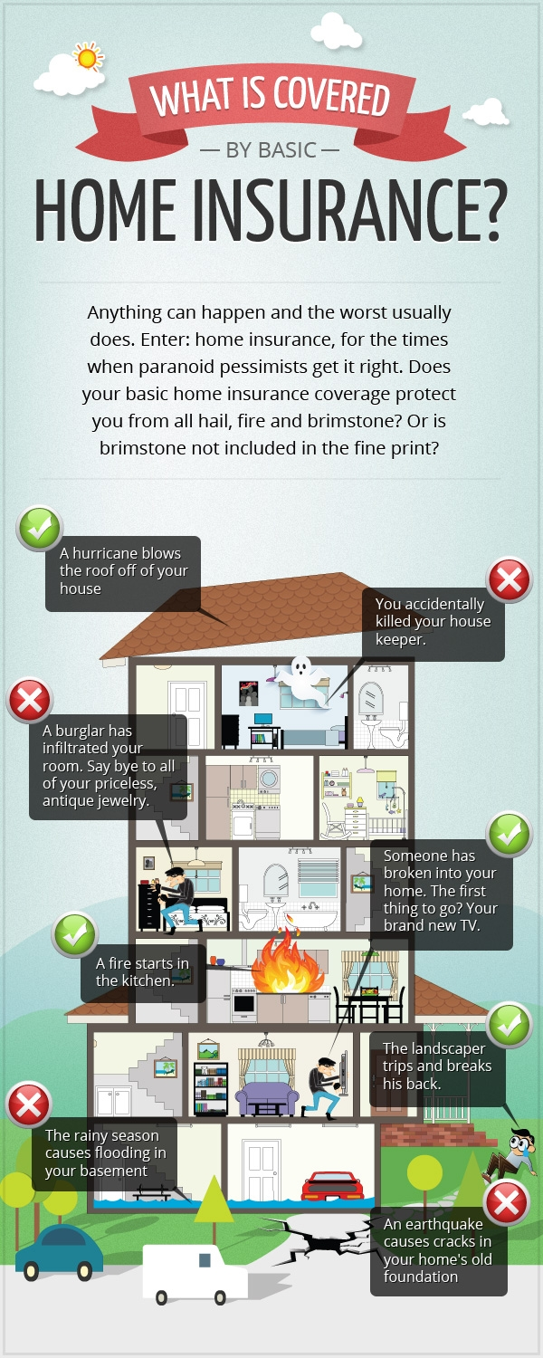 What Is Covered By Basic Home Insurance Infographic